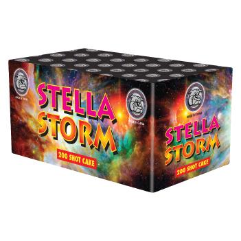 Stella Storm 200 Shot Cake - British Bulldog - Chestnut Trading